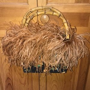 Ostrich (?) Feather Purse - Different!!!!!!